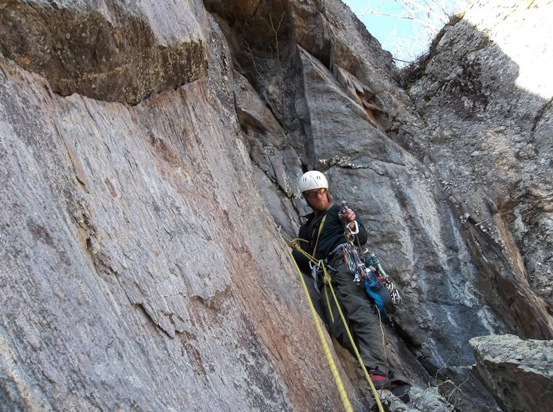 Ryan on first ascent