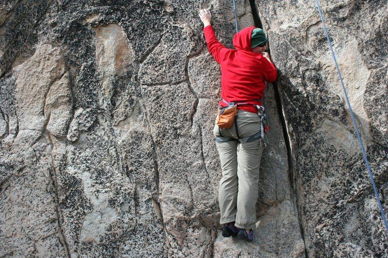 Rock Climbing Photo: Krissy on shantytown swing