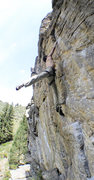 Rock Climbing Photo: The crux lunge.