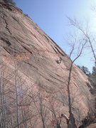 Rock Climbing Photo: Unknown climber on Ripple Effect. Beautiful stone ...