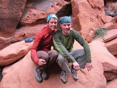 Rock Climbing Photo: Crimson Chrysalis at the bottom with my sister, Po...