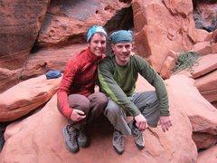 Rock Climbing Photo: Crimson Chrysalis at the bottom with my sister, Po...