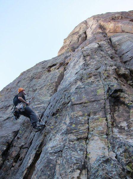Rock Climbing Photo: rappelling off of Crimson Chrysalis