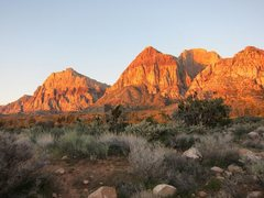 Rock Climbing Photo: nice red rocks sunset