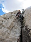 Rock Climbing Photo: solo last bit at top of last pitch to top of lotta...