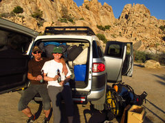 Rock Climbing Photo: end of the day refreshment