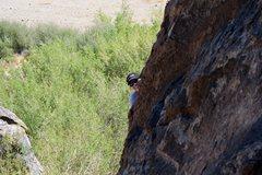 Rock Climbing Photo: krissy on cool enough
