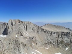 Rock Climbing Photo: Fishhook and the East Arete from Whitney