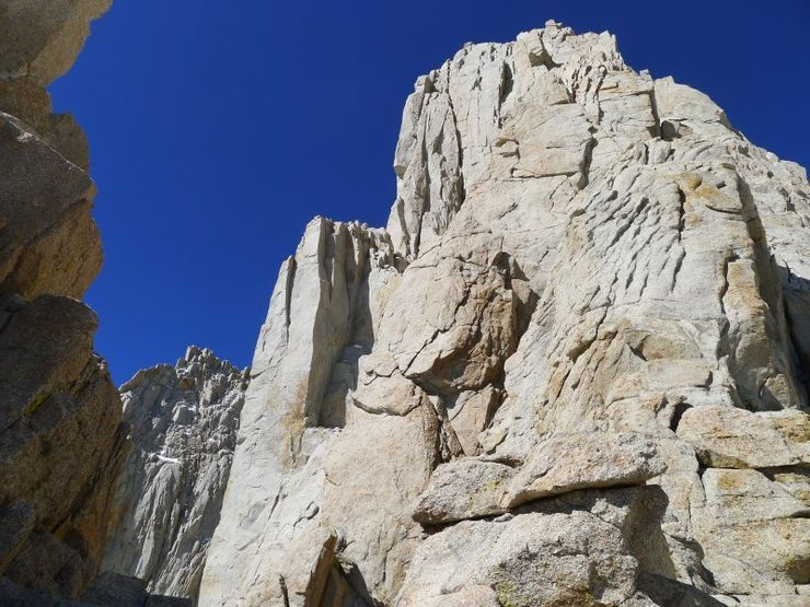Rock Climbing Photo: rippled slab is the first 5.7 section