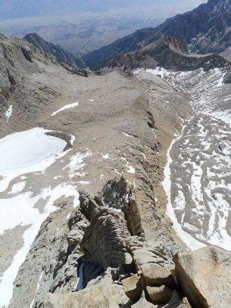 Rock Climbing Photo: looking down to Iceberg Lk