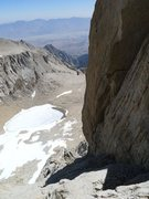 Rock Climbing Photo: looking down the Peewee on P6
