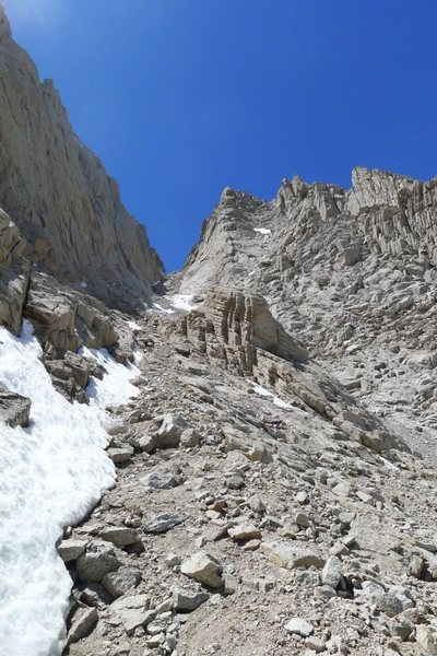 Mountaineers Route descent (barely any snow left in May!)