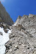 Rock Climbing Photo: Mountaineers Route descent (barely any snow left i...
