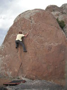 Rock Climbing Photo: Mark on an unknown climb in The Galaxy