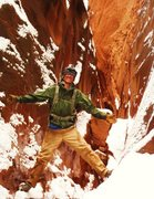 Rock Climbing Photo: Blue John Canyon is a snow storm