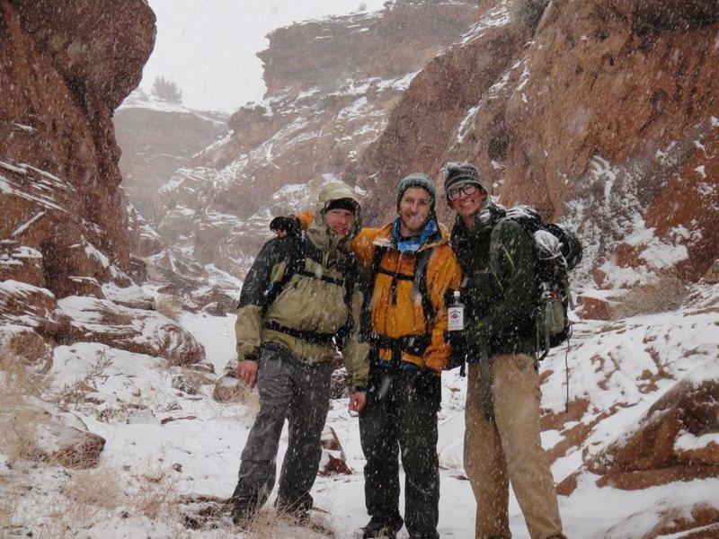 Blue John Canyon in a blizzard