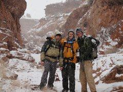 Rock Climbing Photo: Blue John Canyon in a blizzard