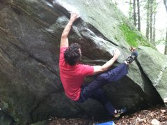 Rock Climbing Photo: second or third move