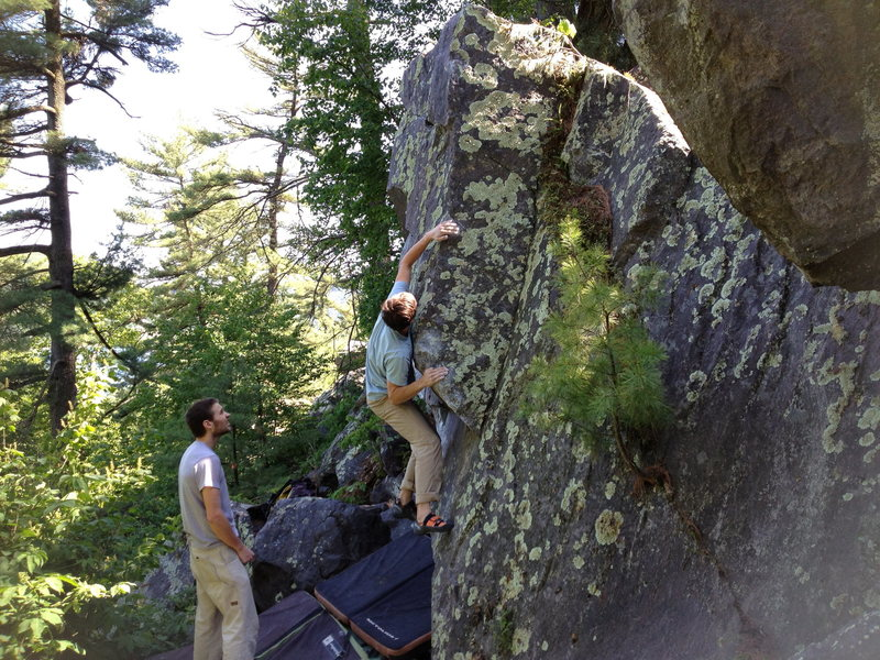 Rock Climbing Photo: Mike on Squirrel Arete