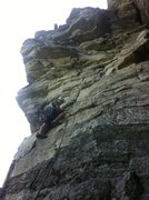 Rock Climbing Photo: Climbing the third pitch of Hi Coroner! That cam i...