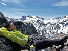 Rock Climbing Photo: Temple Ridge from the super chill summit recliner....