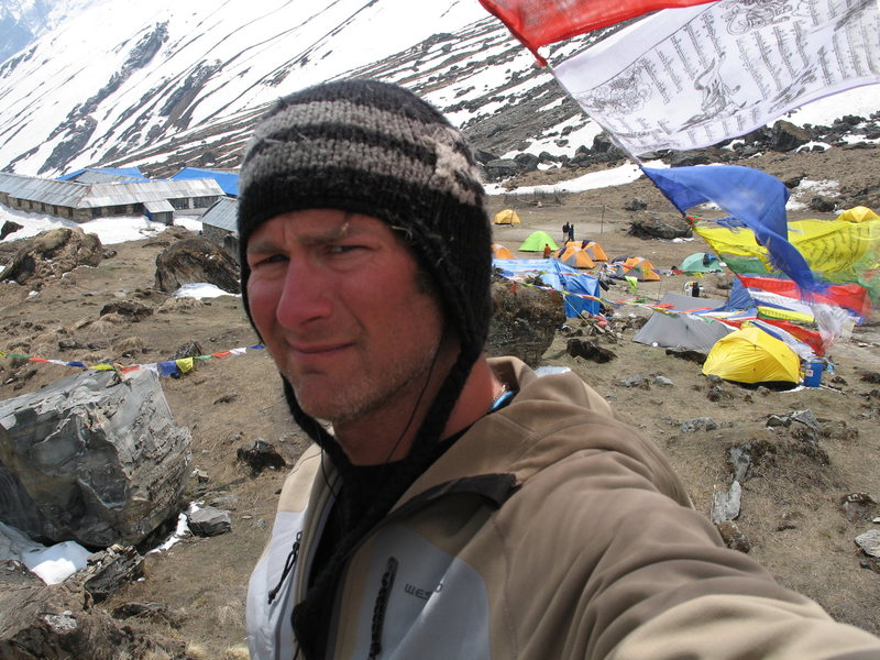 Rock Climbing Photo: Annapurna 1 base camp