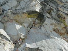 Rock Climbing Photo: First pitch of Solid Gold