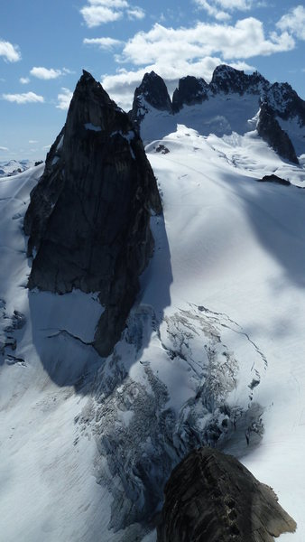 Rock Climbing Photo: Pigeon Spire and the Howsers as seen from Surfs Up...