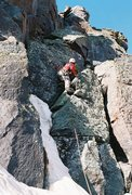 Rock Climbing Photo: Climbing the summit pitch on Dallas East face.