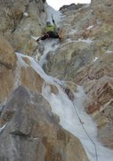 Rock Climbing Photo: Climbing up the awesome ice flow