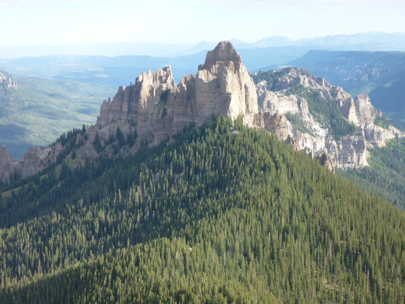 Rock Climbing Photo: Awesome view of Turret Ridge (I think) from Dunsin...