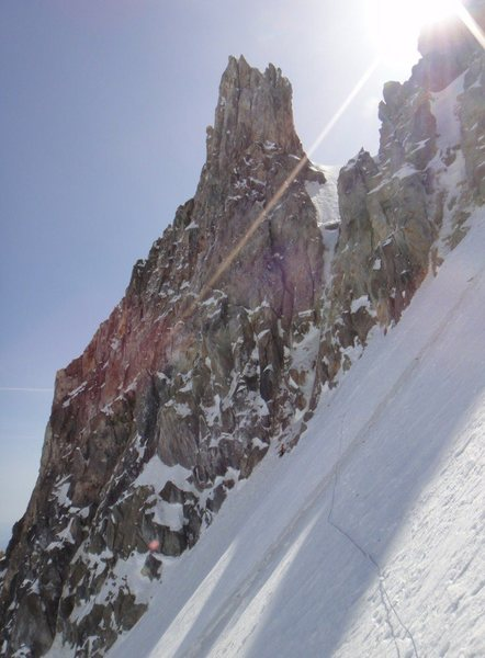 Rock Climbing Photo: Snow traverse to the base of the route