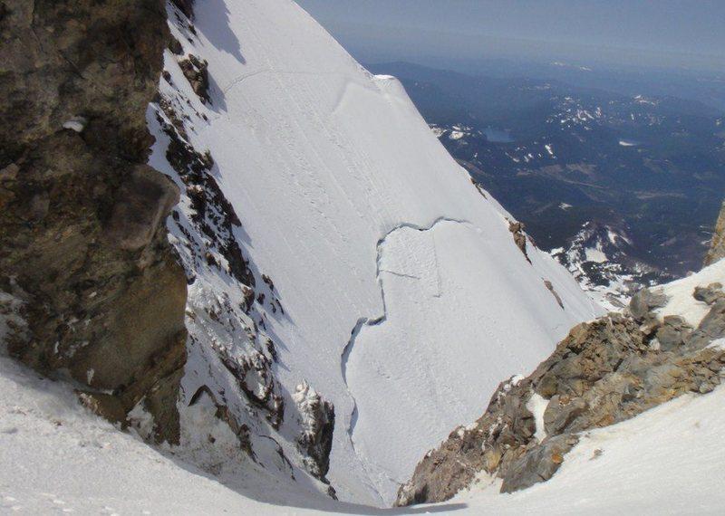 Views towards the glacier