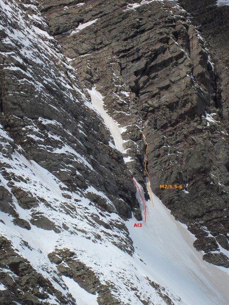 Crux area of the climb.