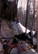 Rock Climbing Photo: March 1989. Ben taking a rest while aid cleaning M...