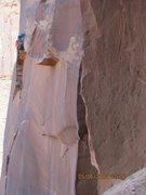 Rock Climbing Photo: feet first