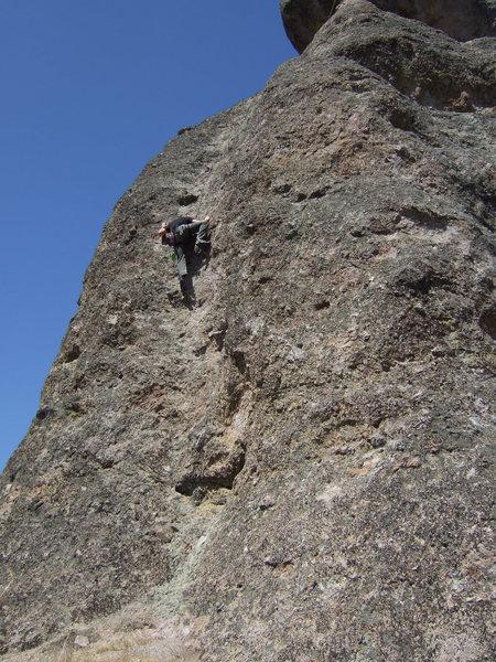 Rock Climbing Photo: jim following up.
