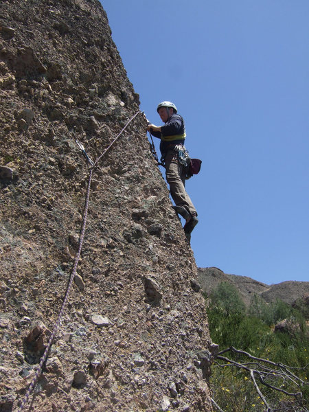 Rock Climbing Photo: @ second bolt before heading up arete