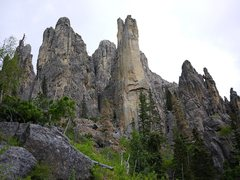 Rock Climbing Photo: Khayyam spire has the yellow wall in the middle of...