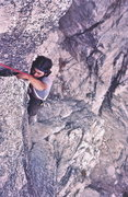 Rock Climbing Photo: Gary Cifra on 'One Armed Swordsman'? 5.7 1969