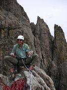 Rock Climbing Photo: The councilman signing the summit register.  Looks...