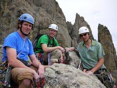 Rock Climbing Photo: Jay, the councilman, and the Eggman on Rubaiyat su...
