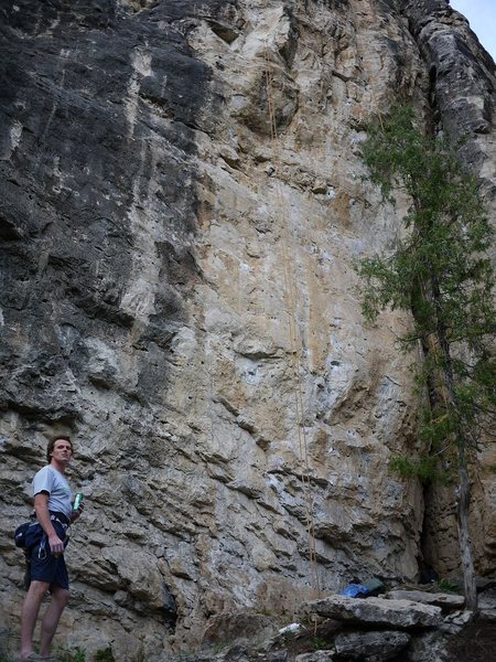 Rock Climbing Photo: This route is inbetween the 11a and the 11d, where...