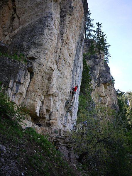 Rock Climbing Photo: SteveZ starting up Battlecry.