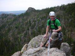 Rock Climbing Photo: Sitting on the summit of Rubaiyat.  Photo Aaron Co...