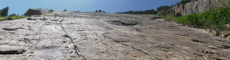 Panorama of the slab from the base.