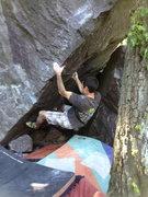 Rock Climbing Photo: Working it