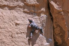 Rock Climbing Photo: Last move is tricky