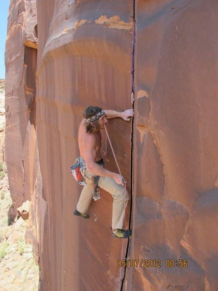 Rock Climbing Photo: jack burning the oil