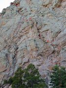 Rock Climbing Photo: The first 2/3 of the route.  Zoom in on the accomp...